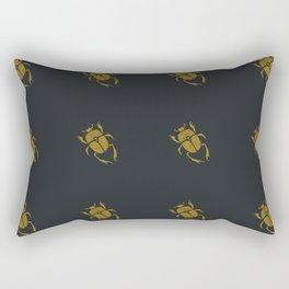 Mustard Scarab Beetle Rectangular Pillow