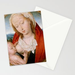 """Hans Memling """"Virgin and Child"""" (4) Stationery Cards"""