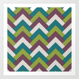 Autumn Chevron Art Print
