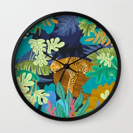 Sleeping Panther Wall Clock