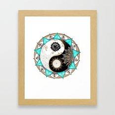 Yin and Yang Mandala Framed Art Print