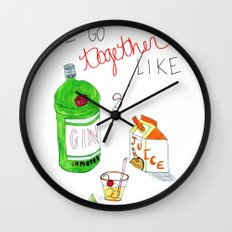 Gin & Juice Wall Clock