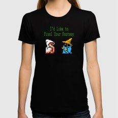 I'd Like to Final Your Fantasy Black MEDIUM Womens Fitted Tee