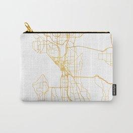 SEATTLE WASHINGTON CITY STREET MAP ART Carry-All Pouch