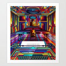 Overlook Hotel Art Print