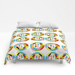 Multicolor circles II-abstraction,abstract,geometric,geometrical,pattern,circle,sphere Comforters