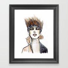 Punk fashion illustration  Framed Art Print