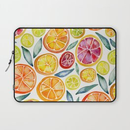 Sliced Citrus Watercolor Laptop Sleeve