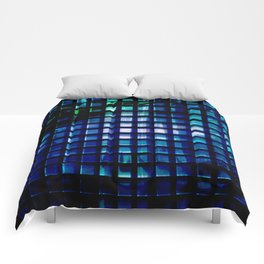 metallic grid 2 Comforters