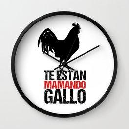 Te Estan Mamando Gallo Tee Shrt Wall Clock