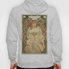 Vintage poster - Woman with flowers Hoody