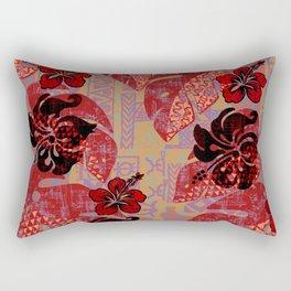 On Fire Kona Tropical Floral Rectangular Pillow