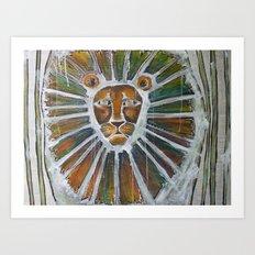 cage-free lion Art Print