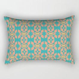 Southwestern Orange Turquoise Pattern Rectangular Pillow