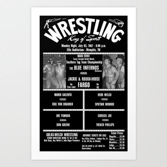 #17-B Memphis Wrestling Window Card Art Print