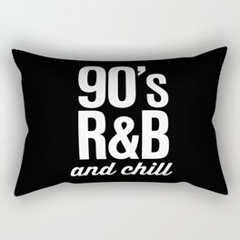 90's R&B and Chill Vintage Retro Typography Rectangular Pillow