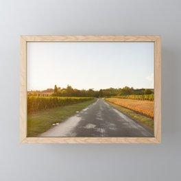 Driving in Bordeaux Framed Mini Art Print