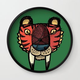 Sabre-toothed tiger Wall Clock