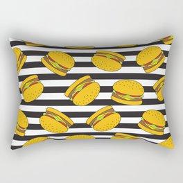 Burger Stripes By Everett Co Rectangular Pillow