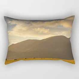 Sheep grazing in the Lake District, England Rectangular Pillow