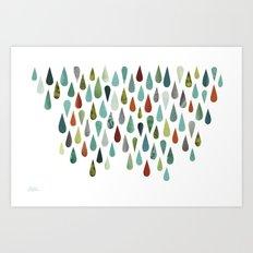 Color Raindrops Art Print