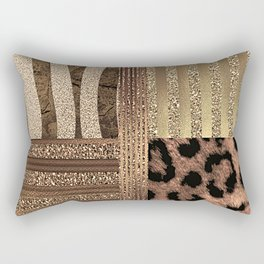 Gold Lioness Safari Chic Rectangular Pillow