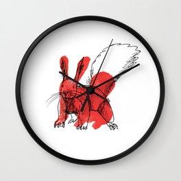 Squirrel Rabbit Wall Clock