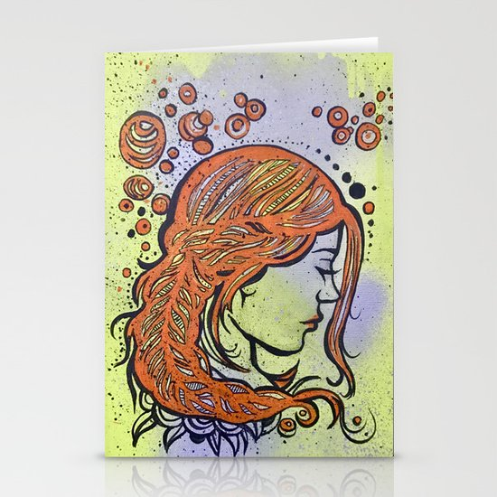 In my head Stationery Cards
