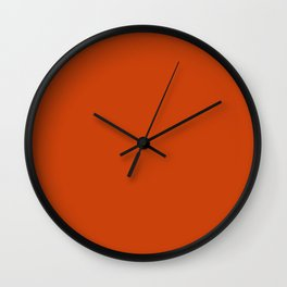 Sinopia - solid color Wall Clock