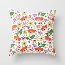 Enchanted Florals Throw Pillow