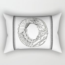 Zentangle O Monogram Alphabet Illustration Rectangular Pillow