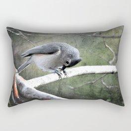 Tufted Titmouse Rectangular Pillow