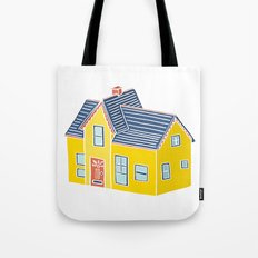 Little Yellow House with a Big Porch Tote Bag