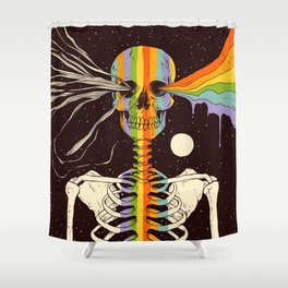 Dark Side of Existence Shower Curtain