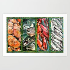 Frome the sea Art Print