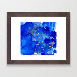 gold snow I Framed Art Print