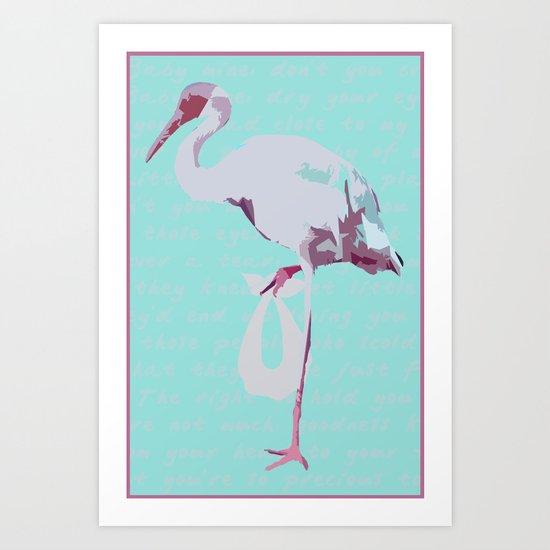 Baby Mine - magenta/aqua Art Print