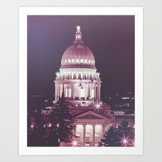 Idaho Capital Building at Night Art Print