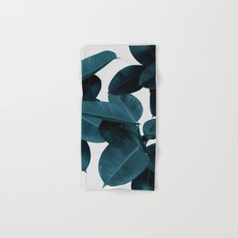 Indigo Plant Leaves Hand & Bath Towel
