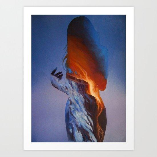Erupt Art Print