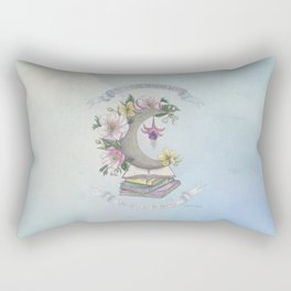 Freedom, Books, Flowers and The Moon Rectangular Pillow