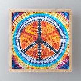 Tie Dye Peace Sign Framed Mini Art Print