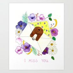 I Miss You. Art Print