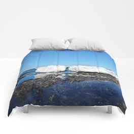 Icebergs Beached by the tides Comforters