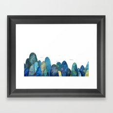 the moutains are comming Framed Art Print