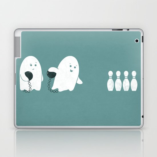 Bowling Ghost Laptop & iPad Skin