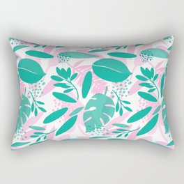 Floral Botanical Illustration Rectangular Pillow