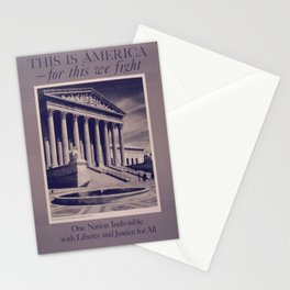 Vintage American World War 2 Poster - This is America: One Nation Indivisible (1943) Stationery Cards