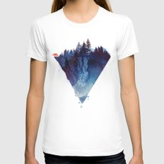Near to the edge MEDIUM White Womens Fitted Tee