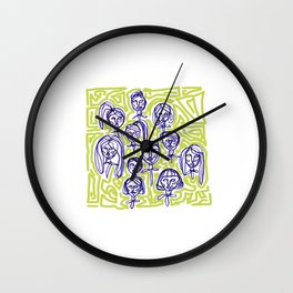 Community Garden Wall Clock